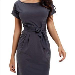 Midi Dresses O-Neck Pencil Dress w pockets